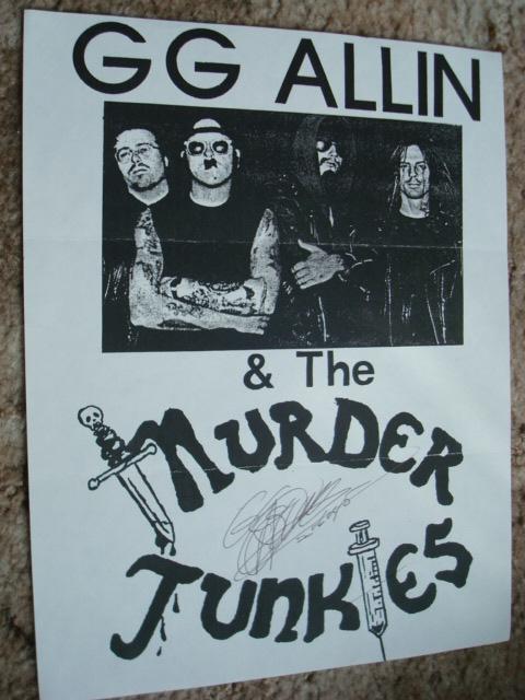 vintage GG Allin autographed Flyer!