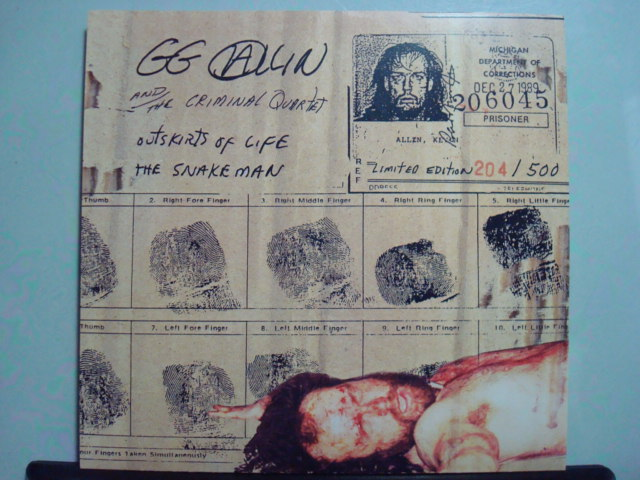 GG Allin & the Criminal Quartet
