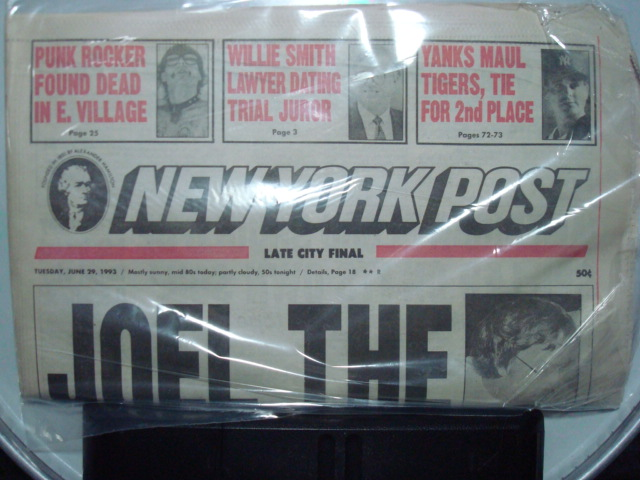 GG Allin-- New York Post