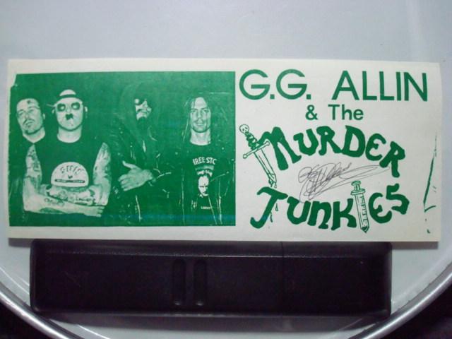 GG ALLIN sticker
