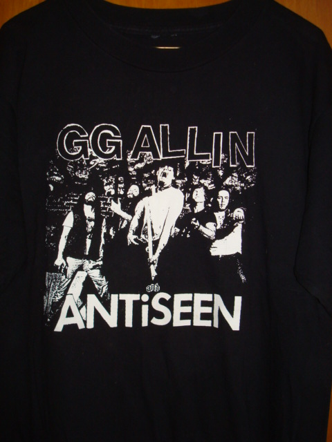 ORIGINAL GG Allin & Anti-Seen Black TOUR SHIRT