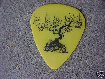 Guitar Tree Drawing Yellow Guitar Pick With